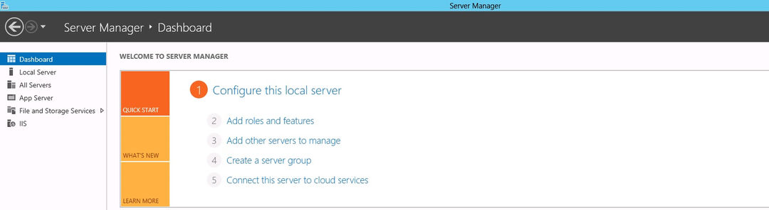 Win Server 2012 R2 Dashboard